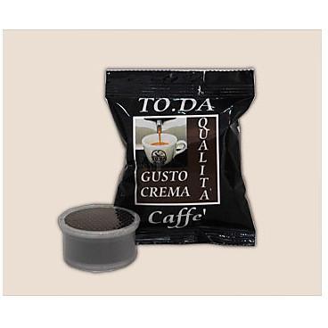 TODA confezione 100 capsule toda caffe' gusto crema compatibili con macchine kimbo