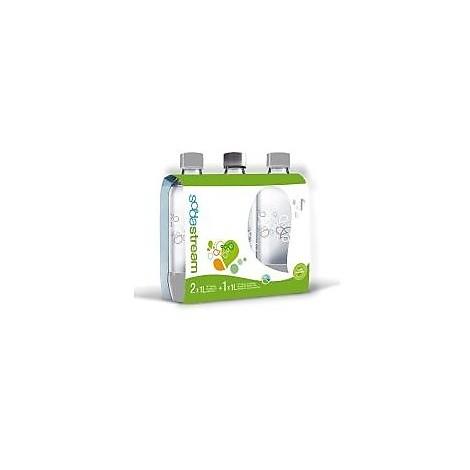 confezione 3 bottiglie plastica sodastream