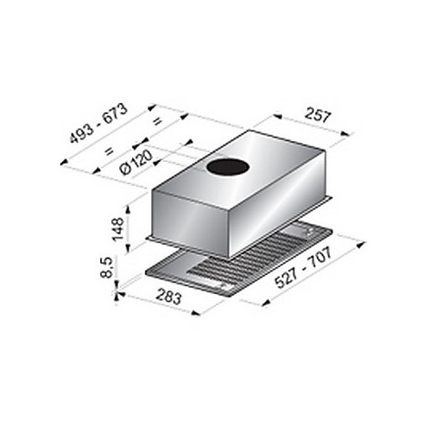 cp 53 cm grigio tecnowind cappa CP-52,7