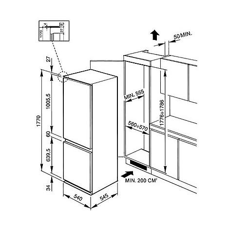cr-324pnf smeg frigorifero combinato da incasso classe A+ - Frigo e ...