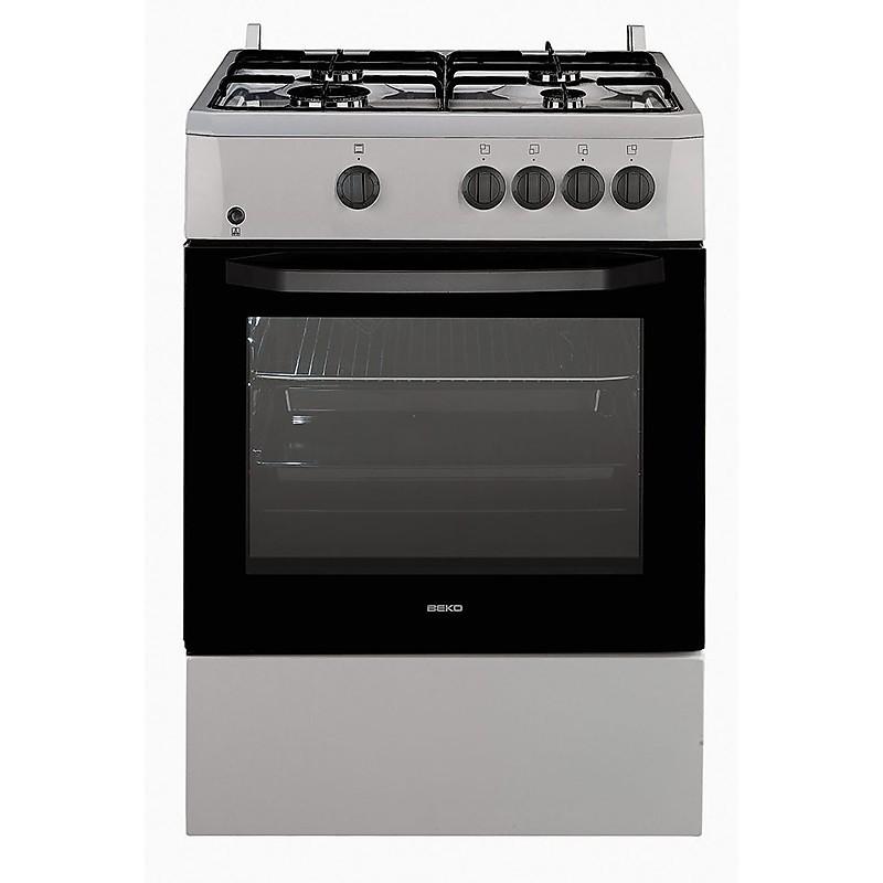 csg-62000dx beko cucina 60x60 4 fuochi a gas forno a gas inox ...