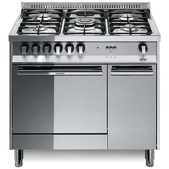 cucina a gas 90x60 mt 96gvc lofra 5 fuochi con forno a gas