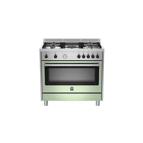 Cucina RIS95C 71BXVla germania 90x60 5 fuochi forno a gas verde