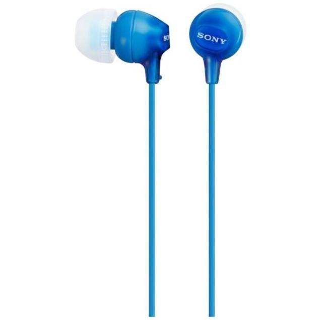 cuffie auricolare c/mic.20-20000hz 1.2mt azzurro
