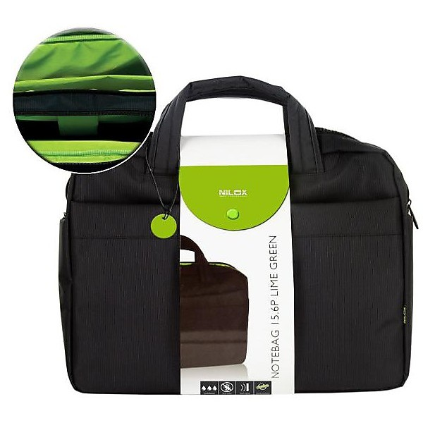 Custodia notebag 15.6p lime green nilox