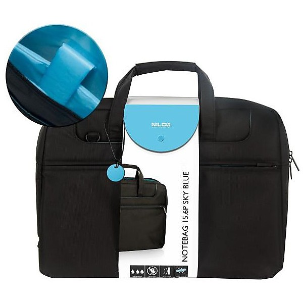 Custodia notebag 15.6p sky blue nilox