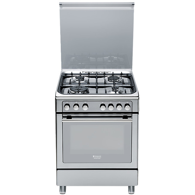 cx-65s7d2it x ha hotpoint ariston cucina inox 4 fuochi a gas ... - Cucina Ariston 4 Fuochi