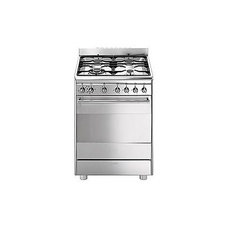 cx-68mf8-2 smeg cucina inox 4 fuochi a gas forno elettrico - Cucine ...