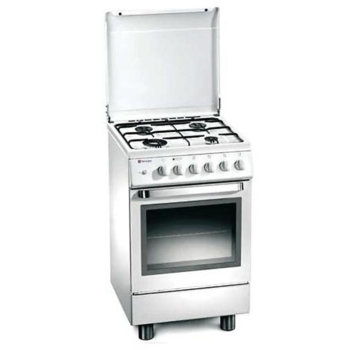 d-13ws tecnogas cucina da 50 cm 4 fuochi a gas forno elettrico bianca