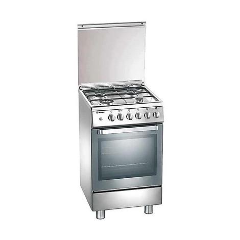 d-13xs tecnogas cucina da 50 cm 4 fuochi a gas forno elettrico inox