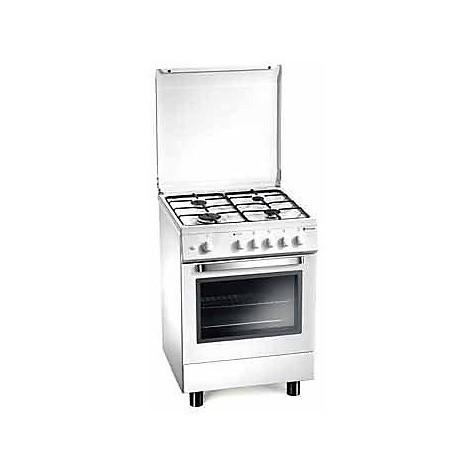 d-52nws tecnogas cucina da 60 cm 4 fuochi a gas forno a gas bianca