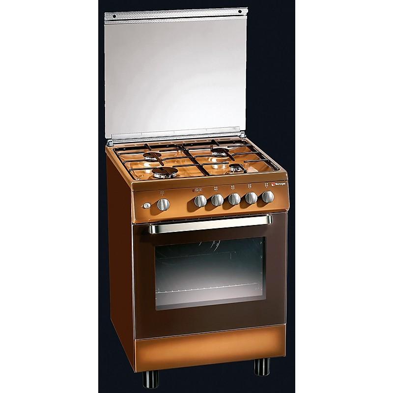d-53ncs tecnogas cucina da 60 cm 4 fuochi a gas forno elettrico marrone