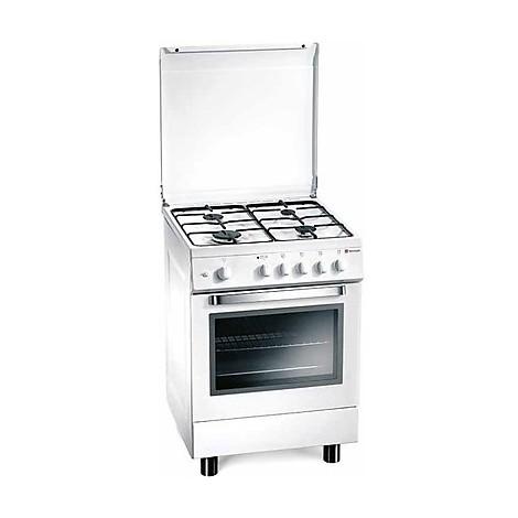 d-62nws tecnogas cucina da 60 cm 4 fuochi a gas forno a gas bianca