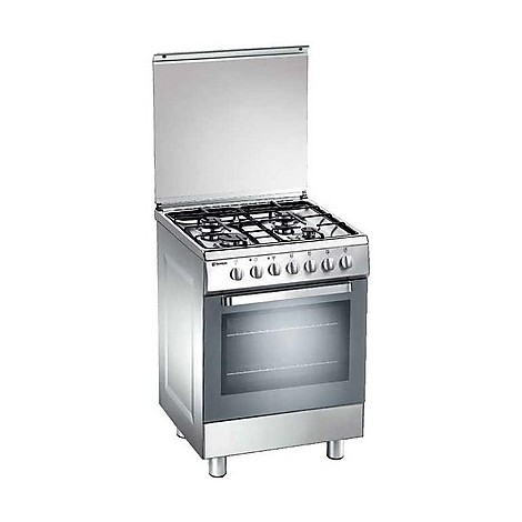 d-62nxs tecnogas cucina da 60 cm 4 fuochi a gas forno a gas inox