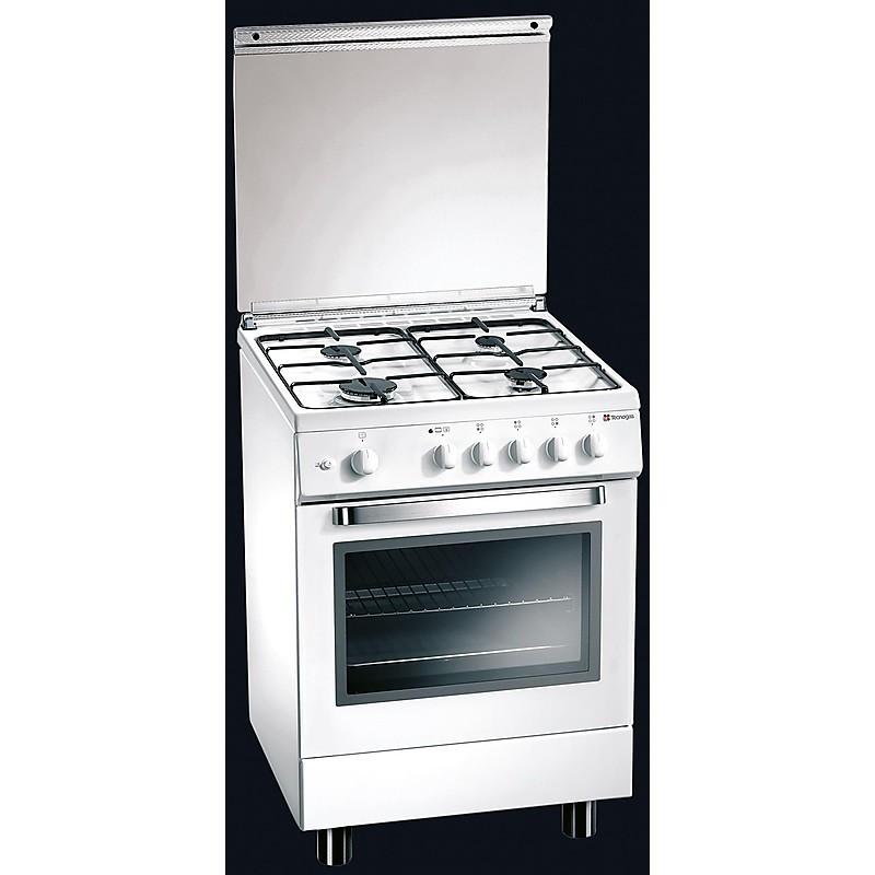 d-63nws tecnogas cucina da 60 cm 4 fuochi a gas forno elettrico bianca