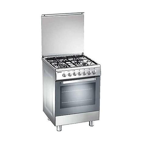 d-63nxs tecnogas cucina da 60 cm 4 fuochi a gas forno elettrico inox