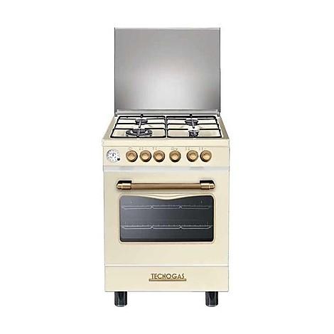 d-664mcr tecnogas cucina da 60 cm 4 fuochi a gas forno elettrico crema