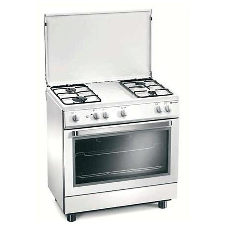 d-808ws tecnogas cucina da 85 cm 4 fuochi a gas forno a gas bianca