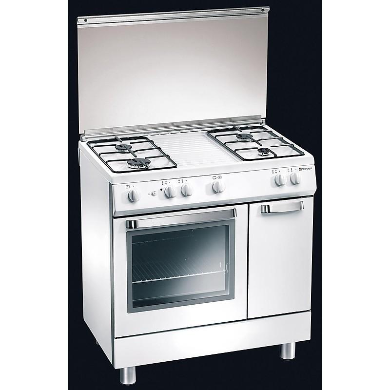 d-822ws tecnogas cucina da 80 cm 4 fuochi a gas forno a gas bianca