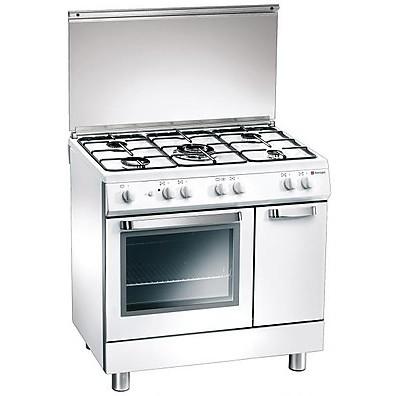 d 824ws tecnogas cucina da 80 cm 5 fuochi a gas forno a gas bianca