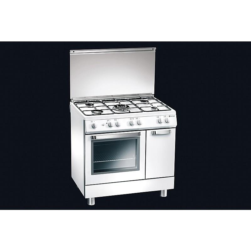 d-824ws tecnogas cucina da 80 cm 5 fuochi a gas forno a gas bianca