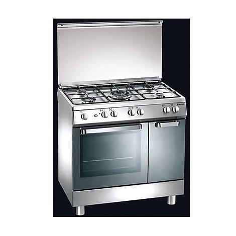 d-824xs tecnogas cucina da 80 cm 5 fuochi a gas forno a gas inox