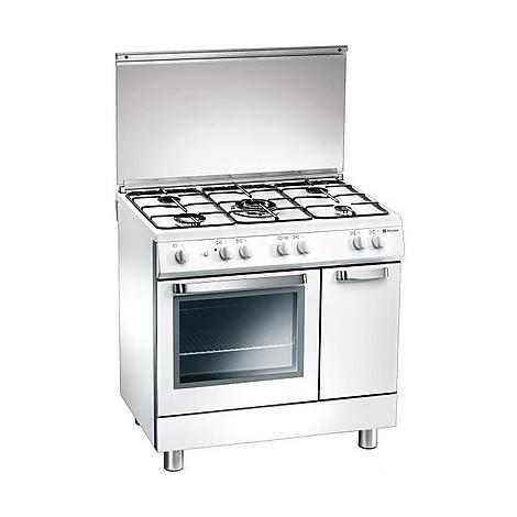 d-827ws tecnogas cucina da 80 cm 5 fuochi a gas forno elettrico bianca