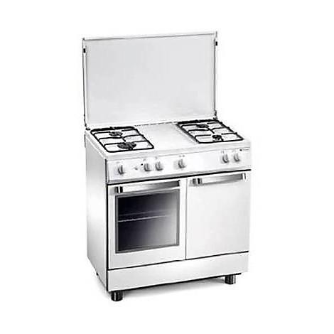 d-832ws tecnogas cucina 4 fuochi forno a gas grill elettrico