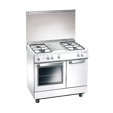 d-833ws tecnogas cucina da 80 cm 4 fuochi a gas forno elettrico bianca