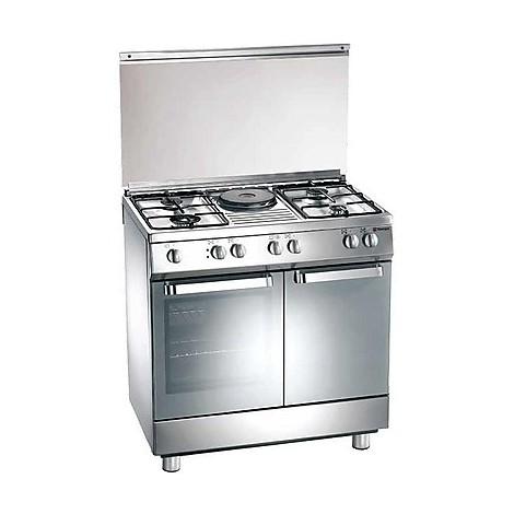 d-881xs tecnogas cucina da 80 cm 4 fuochi a gas +1 piastra forno elettrico inox