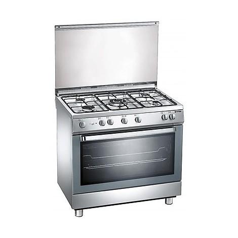 d-902xs tecnogas cucina da 90 cm 5 fuochi a gas forno a gas inox