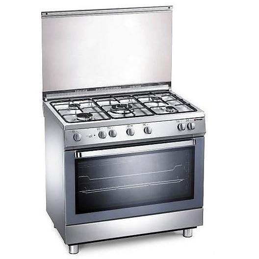 d-907xs tecnogas cucina da 90 cm 5 fuochi a gas forno elettrico inox