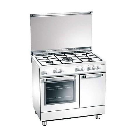 d-924ws tecnogas cucina da 90 cm 5 fuochi a gas forno a gas bianca