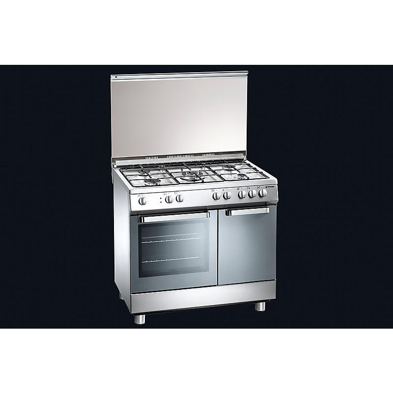 d-924xs tecnogas cucina da 90 cm 5 fuochi a gas forno a gas inox