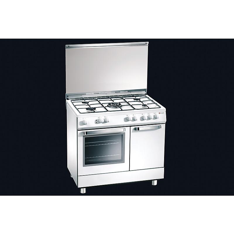 d-927ws tecnogas cucina da 90 cm 5 fuochi a gas forno elettrico ...