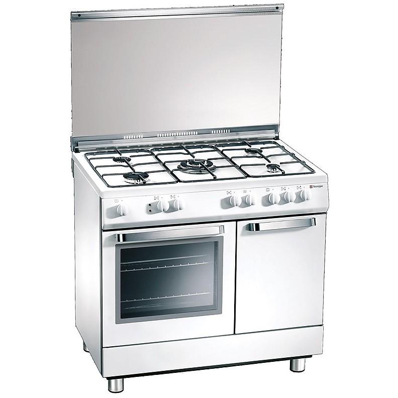 d 927ws tecnogas cucina da 90 cm 5 fuochi a gas forno elettrico bianca