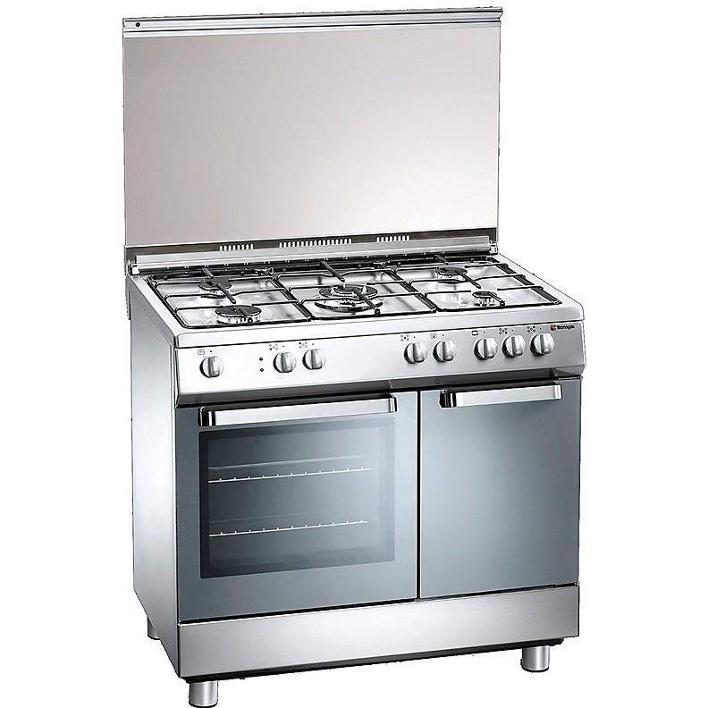 d-927xs tecnogas cucina da 90 cm 5 fuochi a gas forno elettrico inox