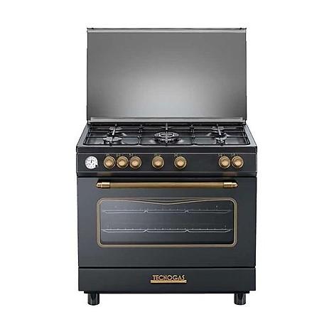 d-965gvn tecnogas cucina da 90 cm 5 fuochi a gas forno a gas antracite