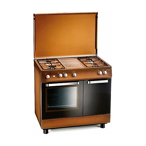 d-982cs tecnogas cucina da 90 cm 4 fuochi a gas forno a gas marrone