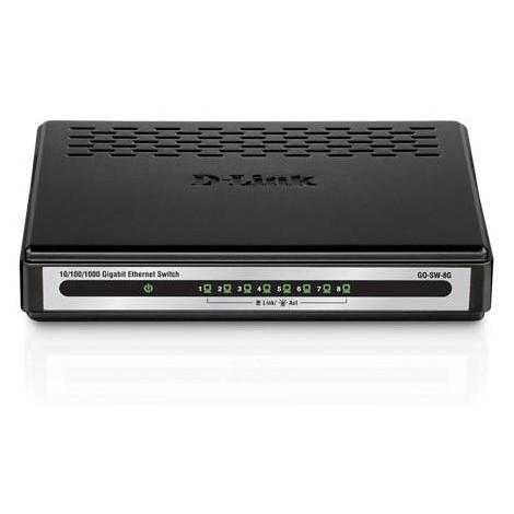 D-LINK GO-SW-8G switch 8 porte LAN 10/100/1000Mbps colore nero