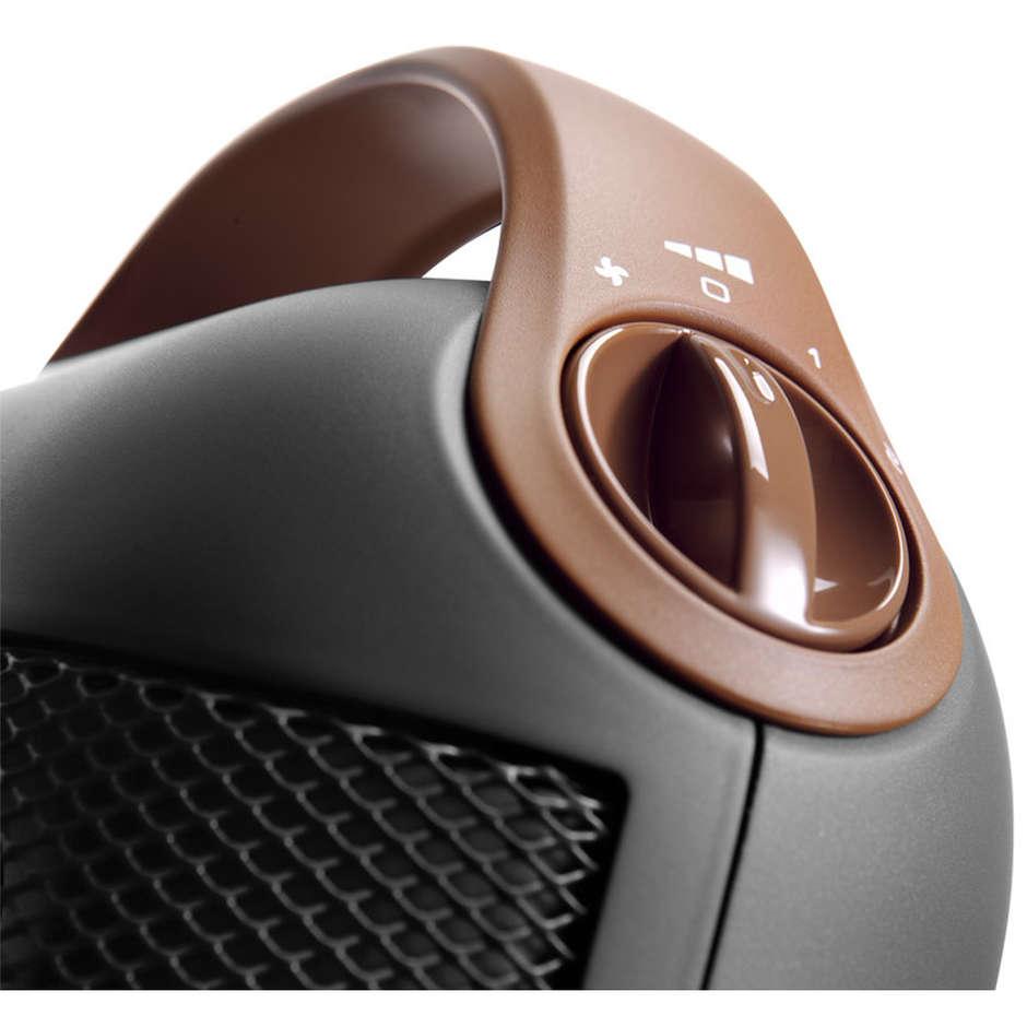 De longhi Capsule HFX30C18.AG Termoventilatore ceramica 1800 W 2 livelli potenza colore Grigio
