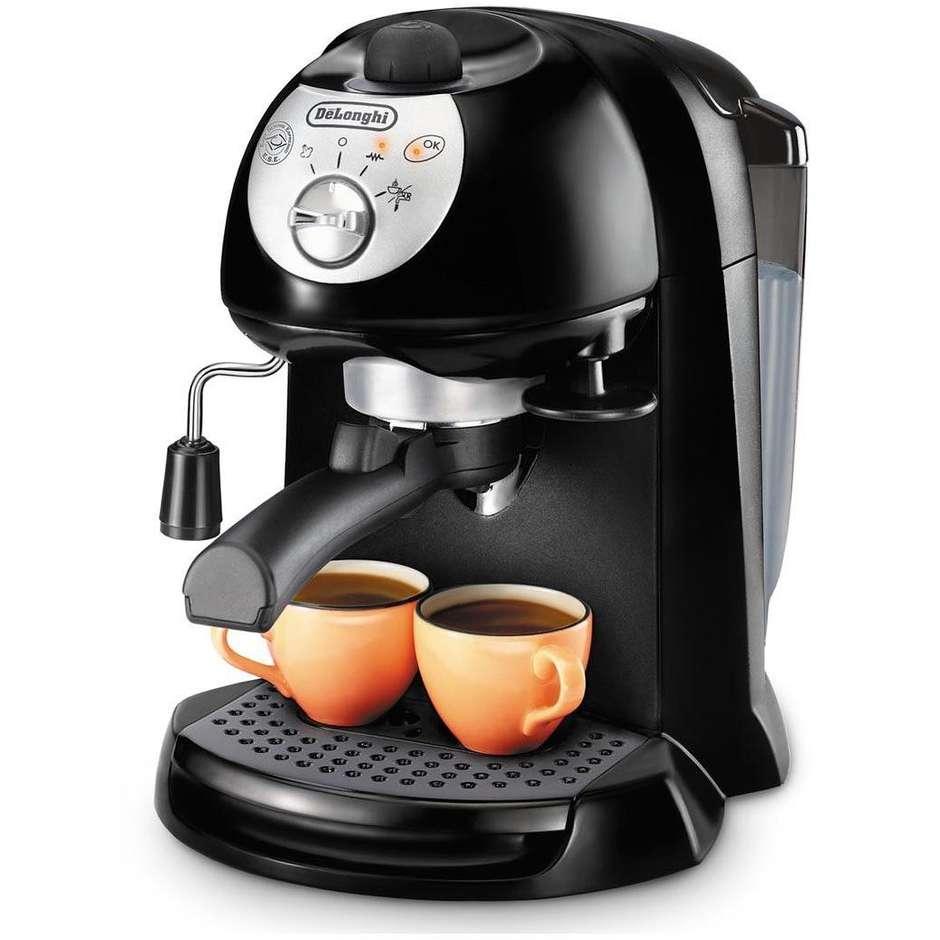 De Longhi EC 201.CD.B macchina del caffe' cialde/caffè in polvere serbatoio 1 litro silver/nero