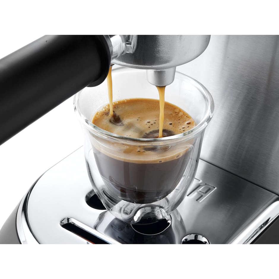 De Longhi EC685.M Dedica Style Macchina da Caffè Espresso con Pompa Potenza 1300 Watt Colore Metal