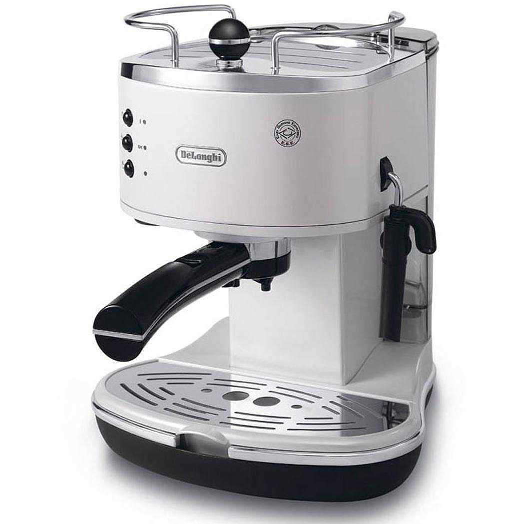 De Longhi ECO311.W Macchina del caffè espresso con cialde e macinato ...