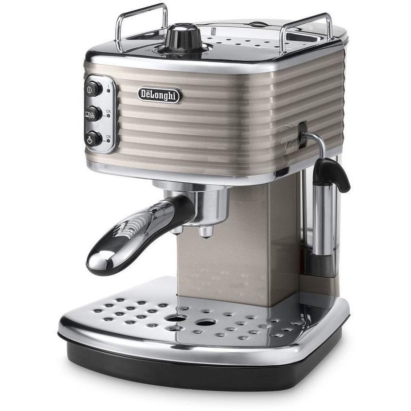 De Longhi ECZ 351.BG Scultura macchina del caffè cialde e polvere potenza 1100 Watt 1.4 litri colore beige
