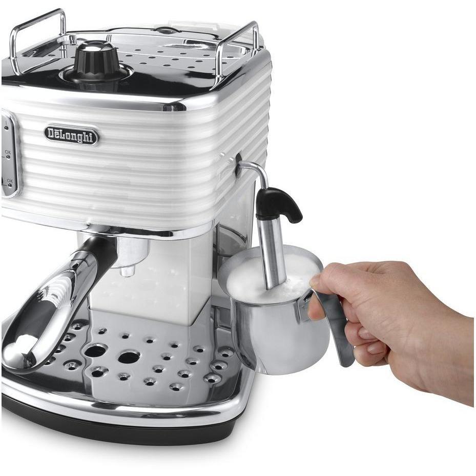 De Longhi ECZ 351.W Scultura macchina del caffè cialde e polvere potenza 1100 Watt 1.4 litri colore bianco