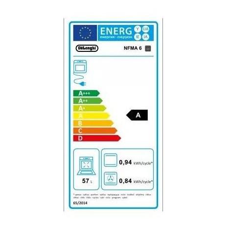 De Longhi NFMA 6 forno elettrico multifunzione da incasso 57 litri classe A colore inox