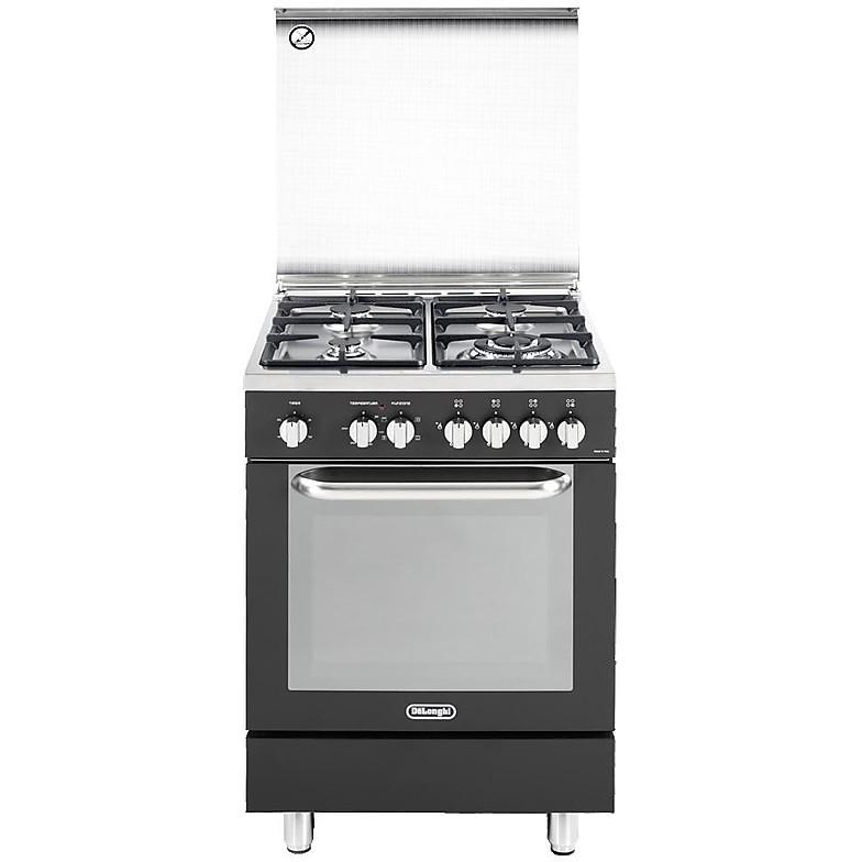 dema-664 de longhi cucina 60x60 cm 4 fuochi forno elettrico antracite