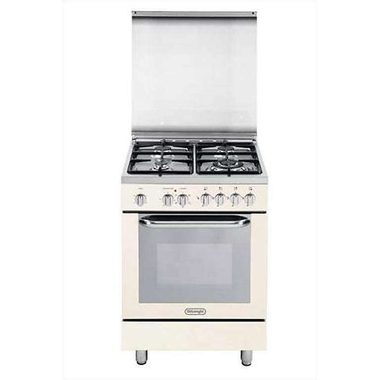demb 664 de longhi cucina 60x60 cm 4 fuochi forno elettrico beige