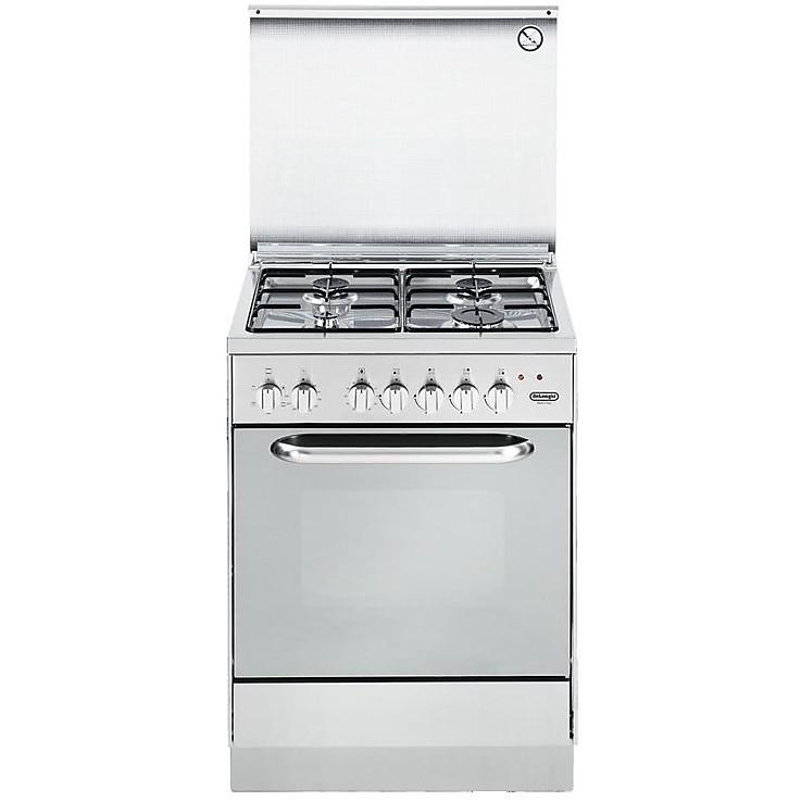 demx-654 de longhi cucina 60x50 cm 4 fuochi forno elettrico inox ... - Cucina 4 Fuochi Forno Elettrico